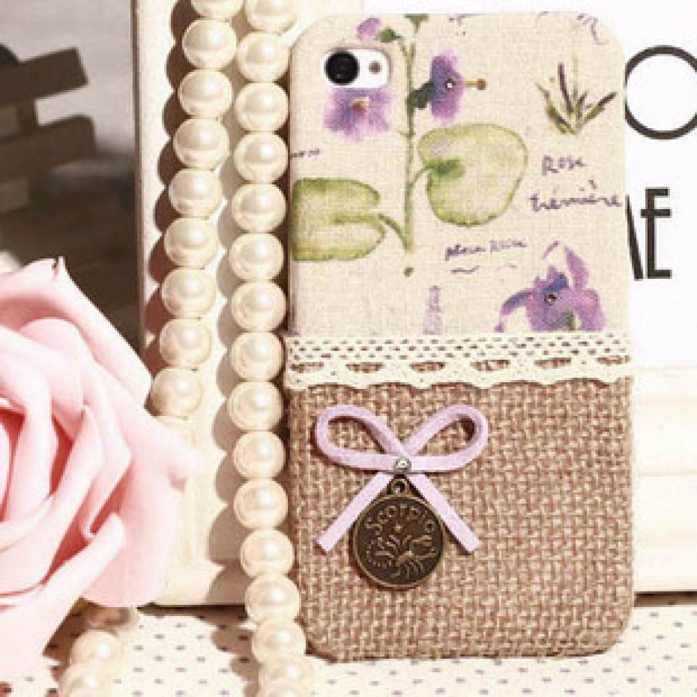 Original Diy Fabric Butterfly Knot Iphone Case Limited