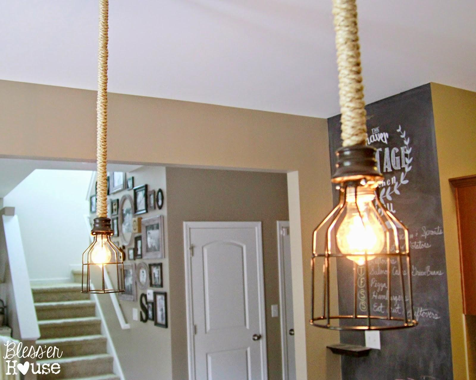Original Industrial Pendant Lights Can Craft Yourself