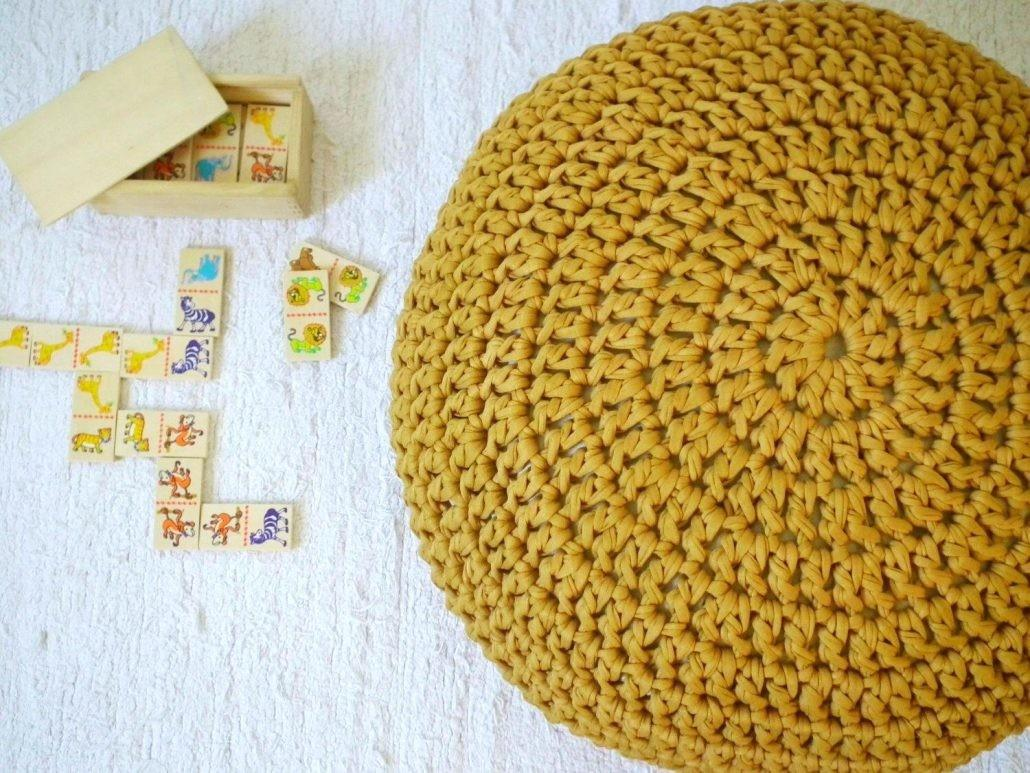 Ottomans Cable Knit Pouf Ottoman Pattern Knitted Home