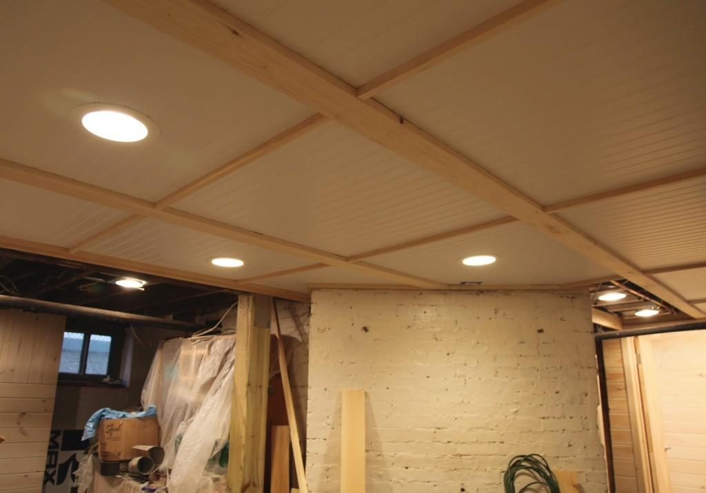Our Basement Part Grout Beadboard Ceilings Stately
