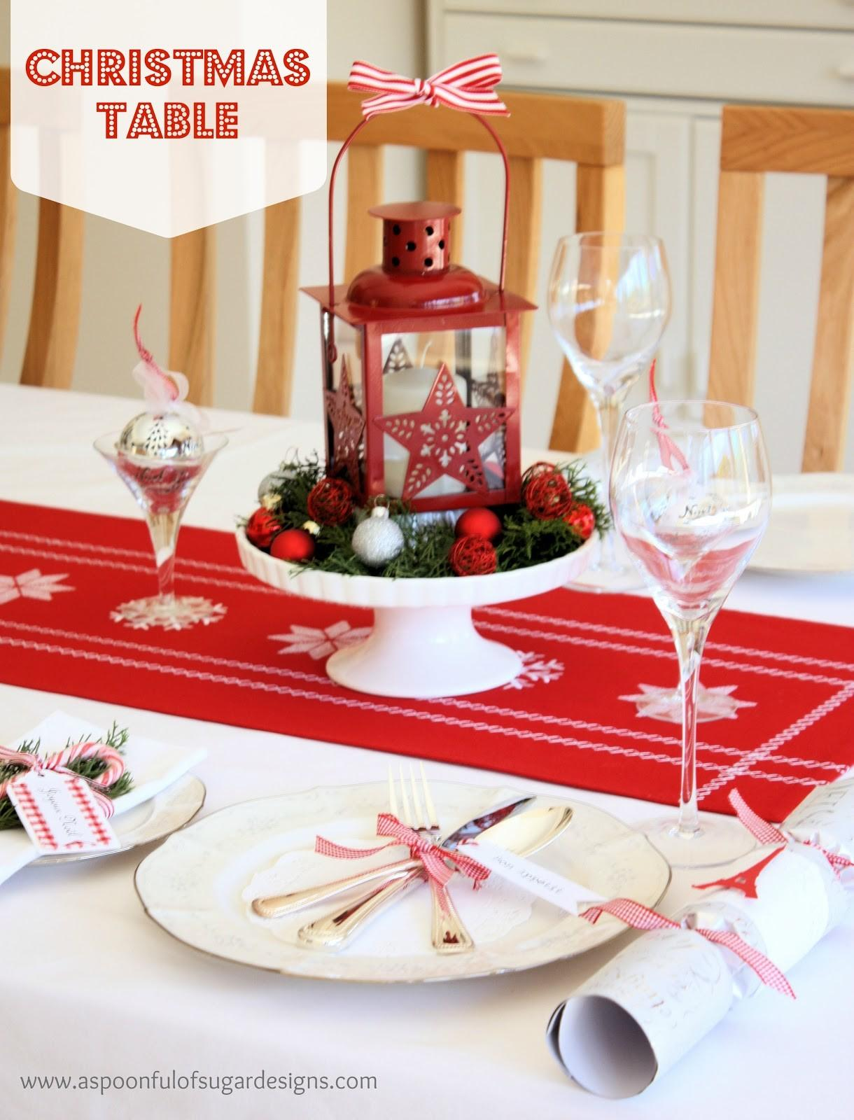 Our Christmas Table Spoonful Sugar