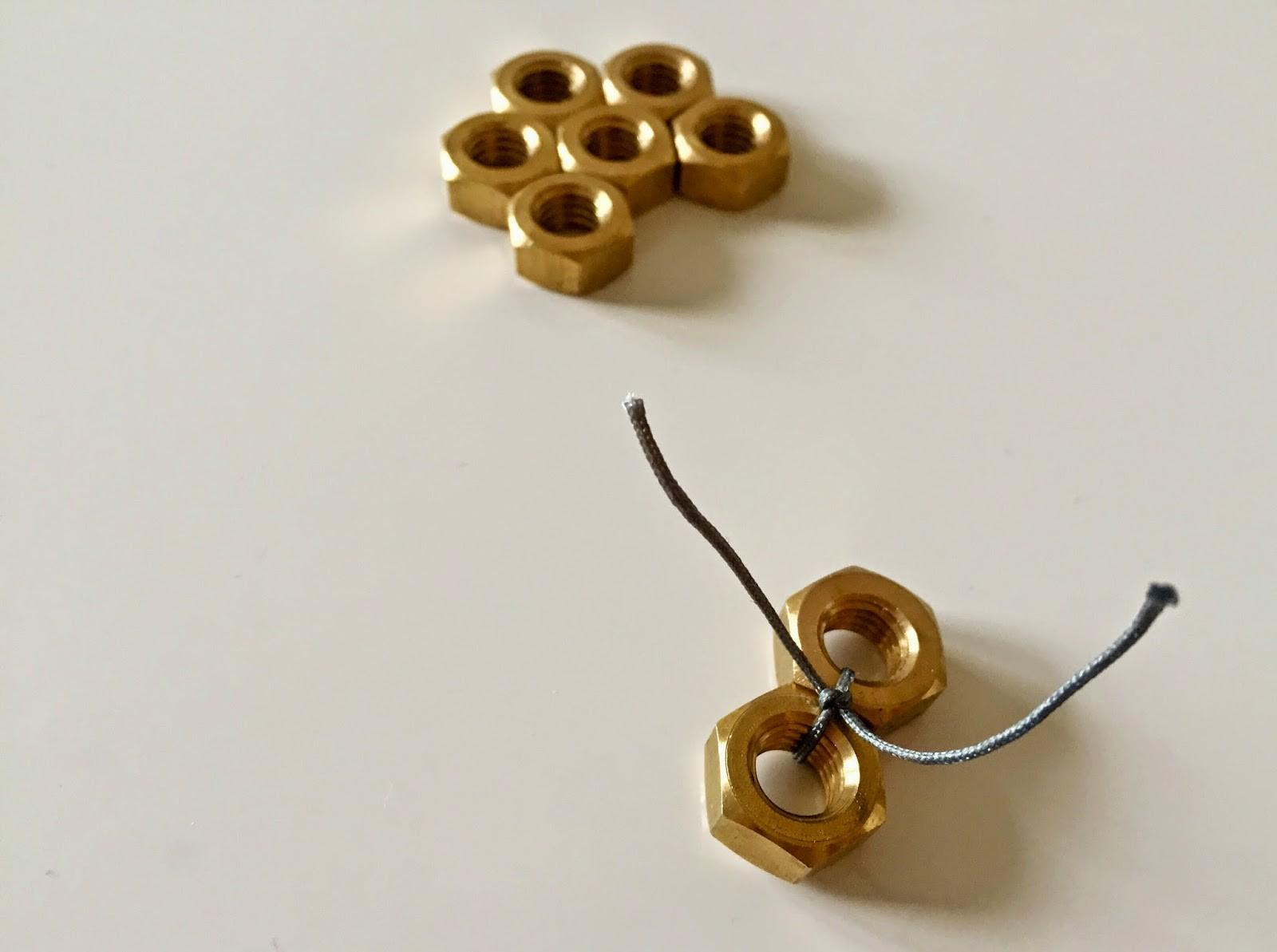Our Creative Chaos Coffee Diy Hex Nut Necklace