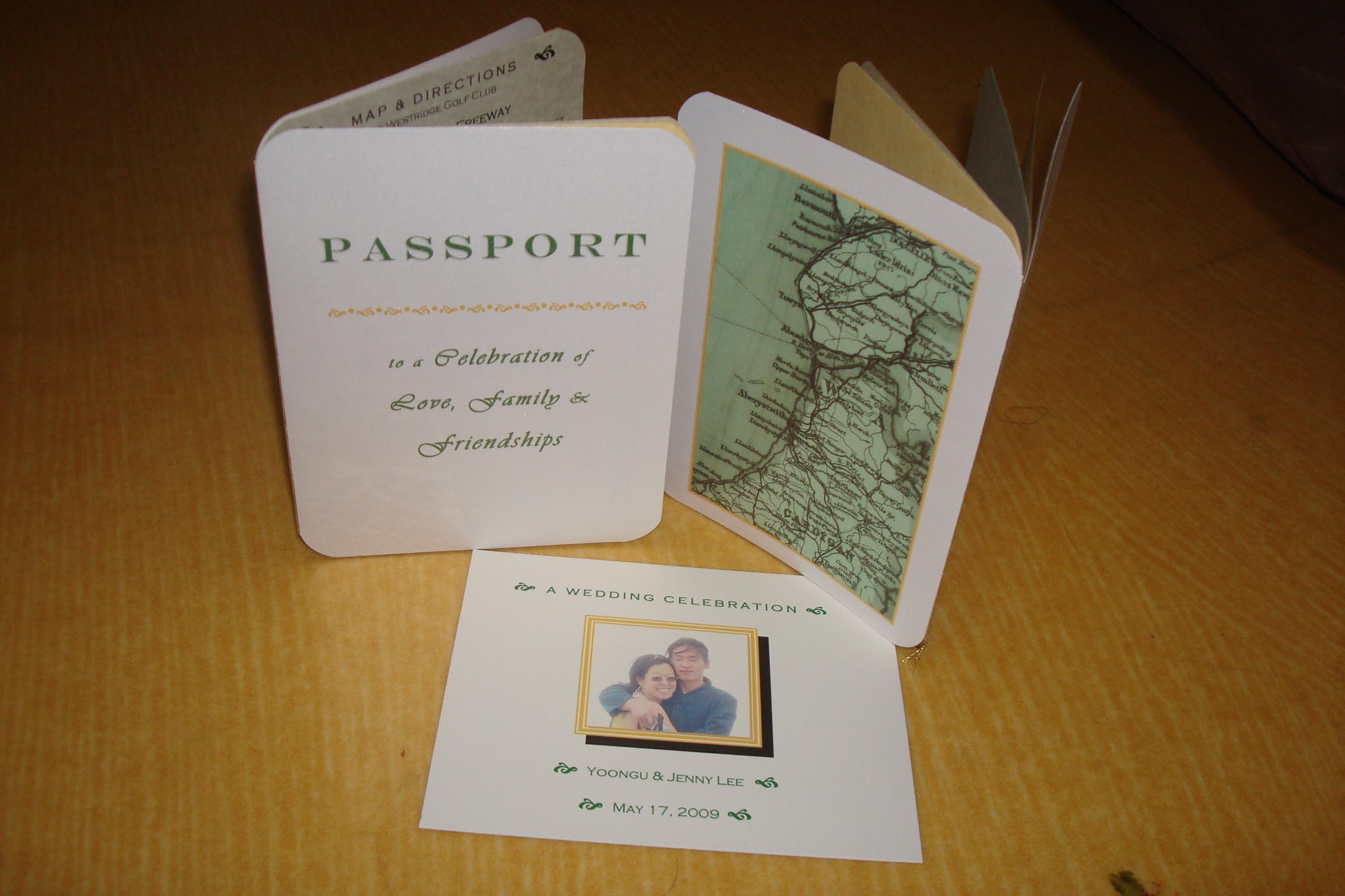 Our Diy Wedding Revisited Passport Invitations Jenny
