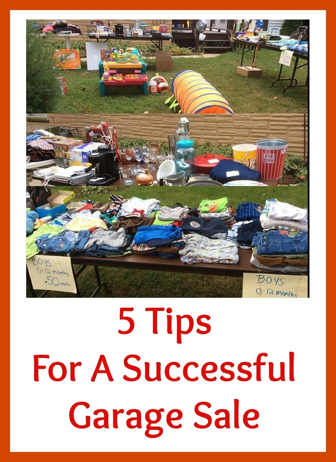 Our Family Budget Tips Successful Yard Sale