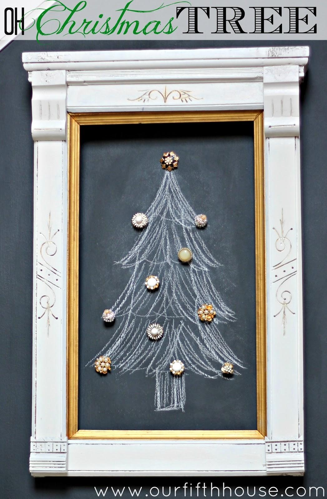 Our Fifth House Simple Vintage Chalkboard Christmas Tree