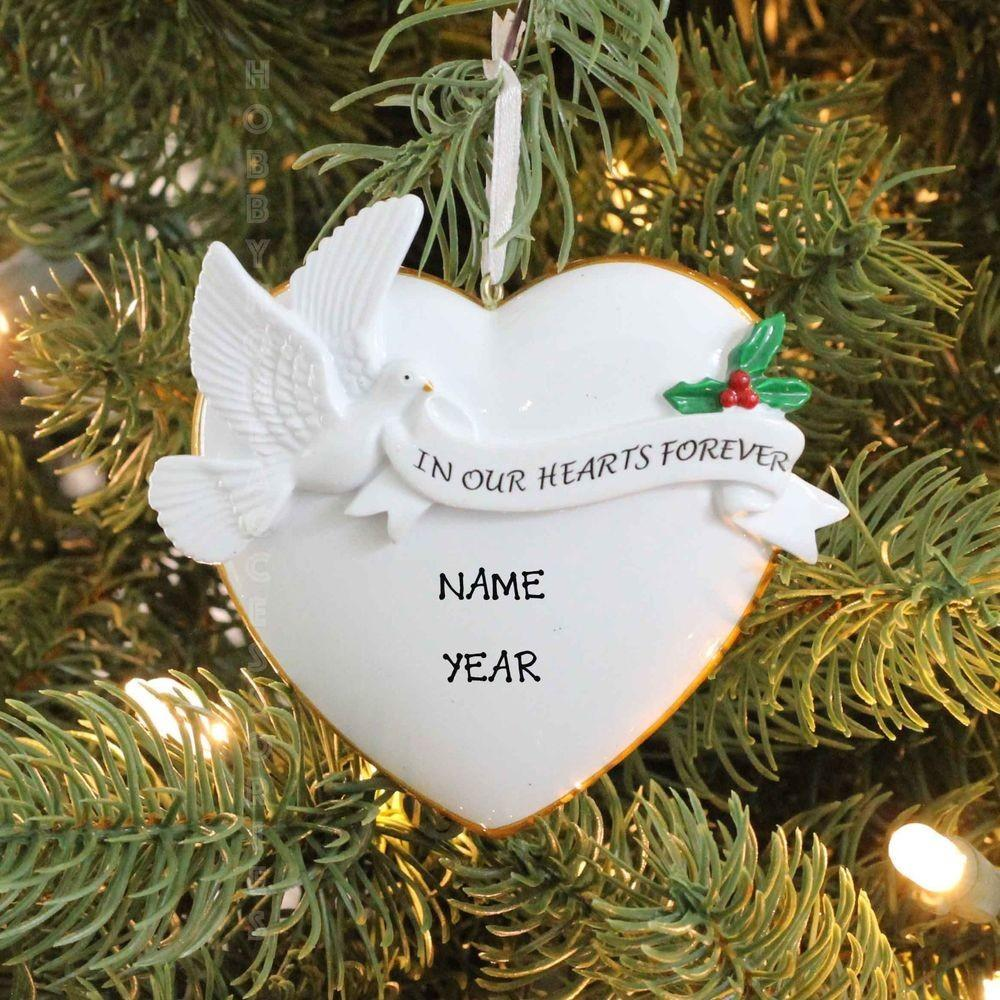 Our Hearts Forever Memory Dove Personalized Christmas
