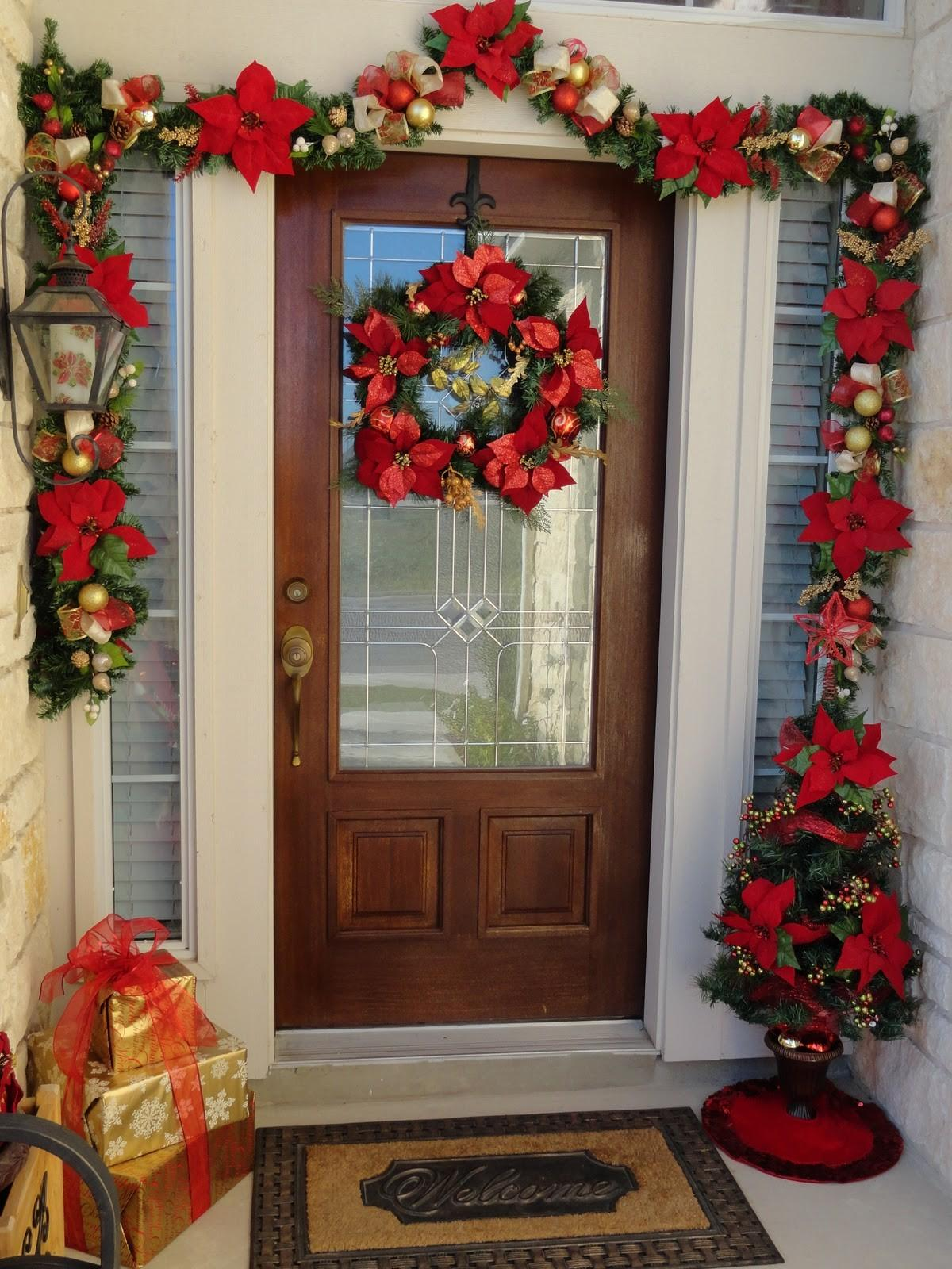 Our Home Away Front Door Christmas Decor