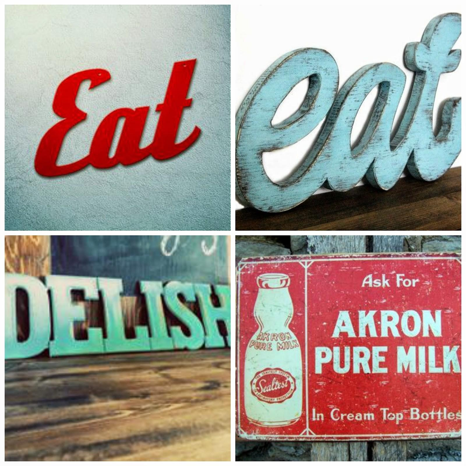 Our Hopeful Home Diy Retro Kitchen Eat Sign Reveal