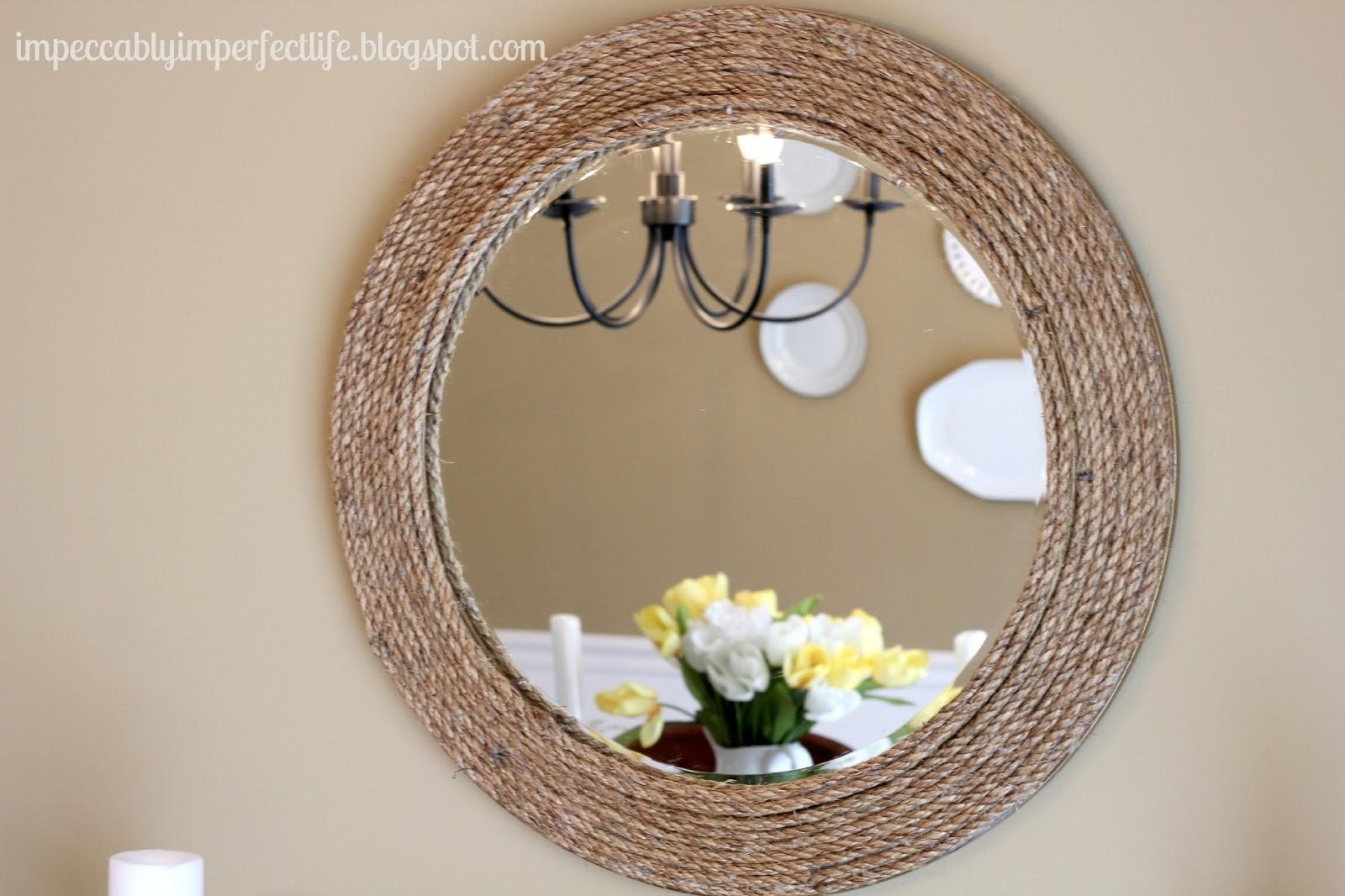 Our Impeccably Imperfect Life Diy Rope Mirror Ballard