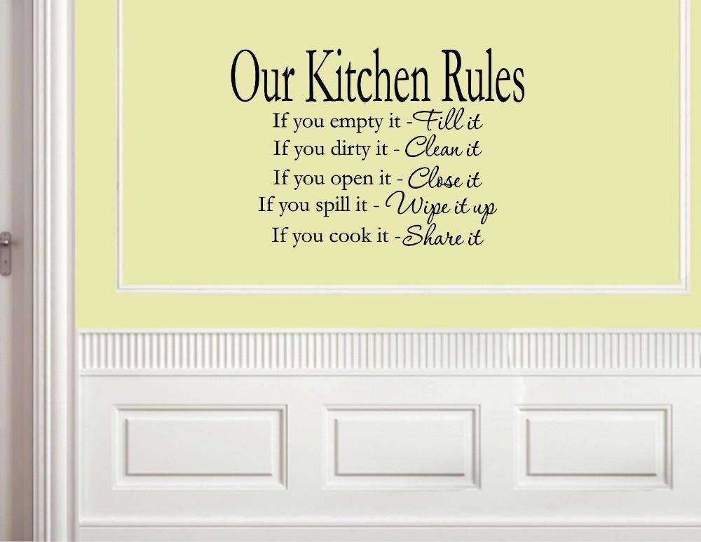 Our Kitchen Rules Vinyl Wall Decals Quotes Sayings Words