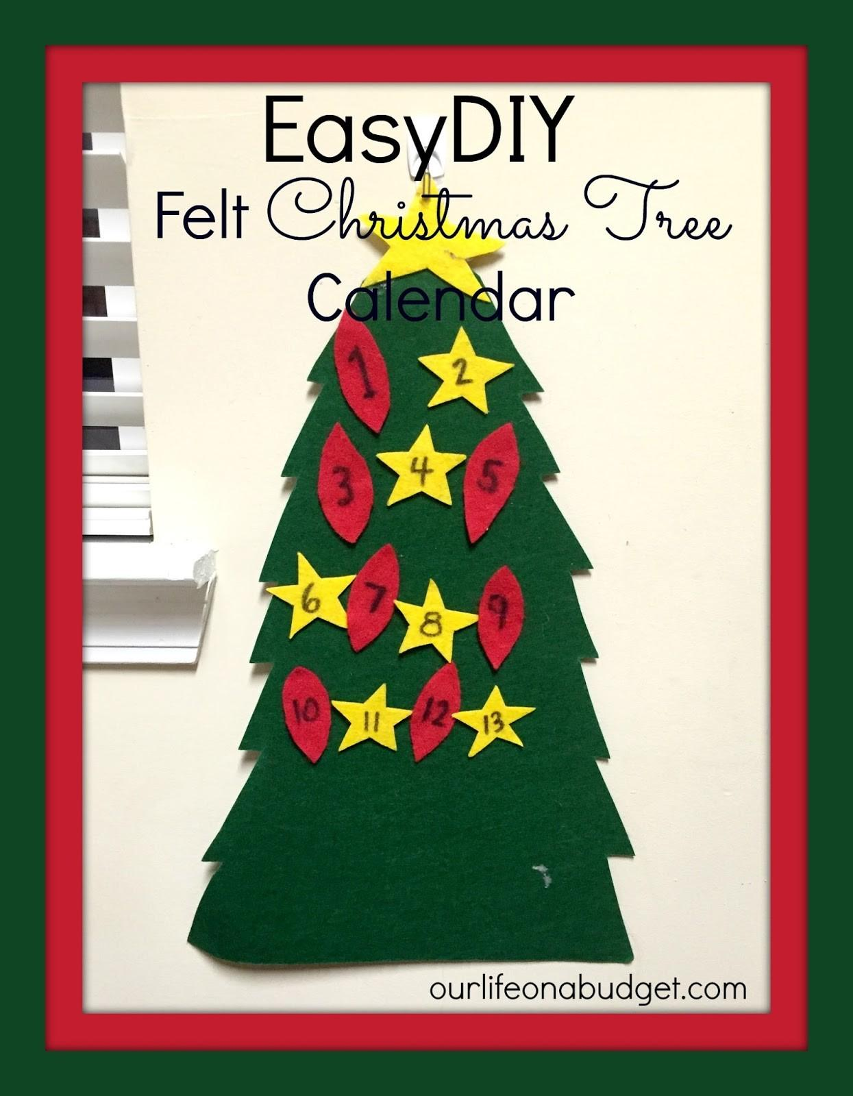 Our Life Budget Easy Diy Felt Advent Christmas