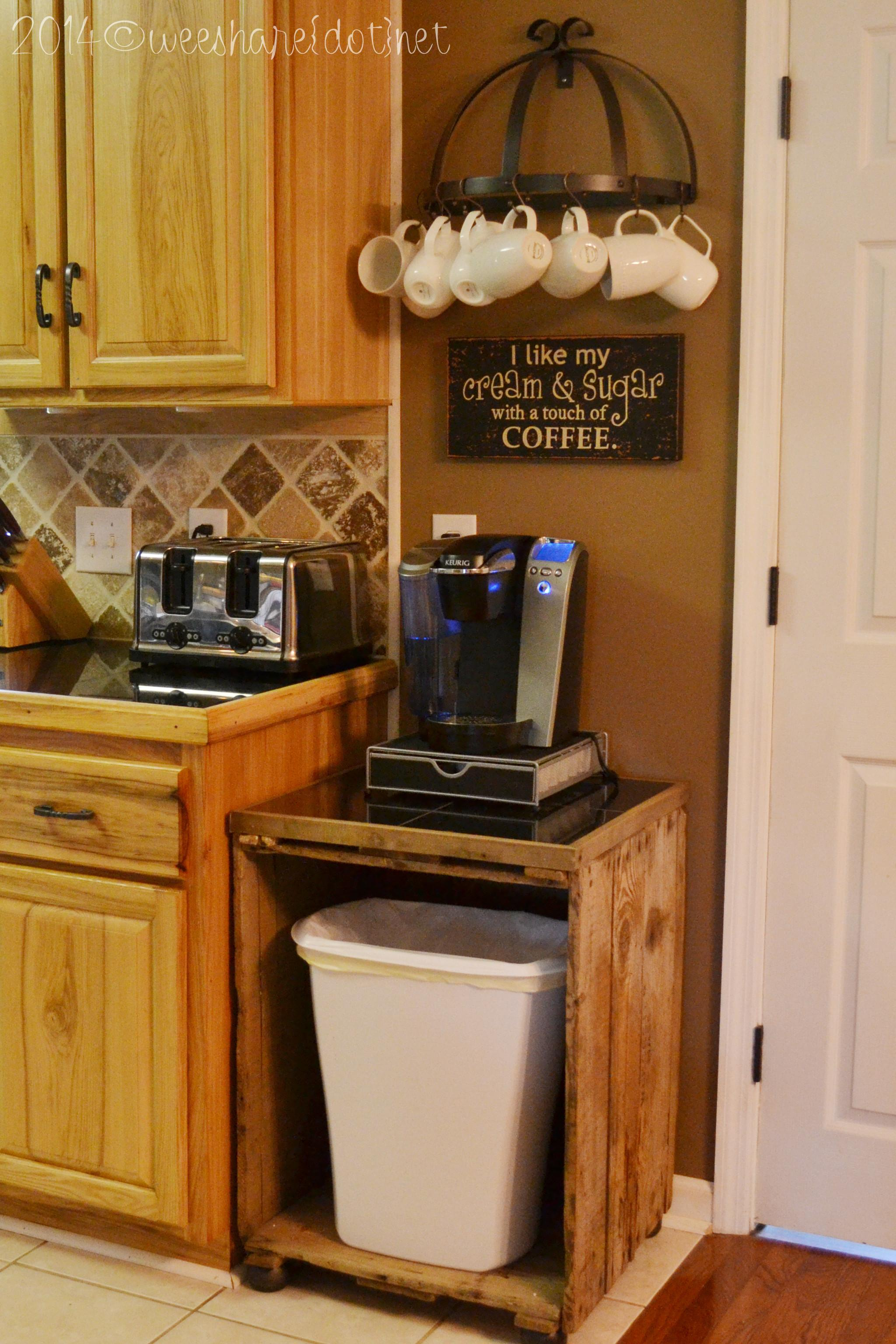 Our New Home Diy Coffee Station Wee Share