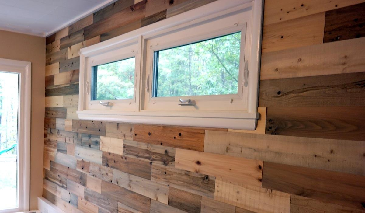 Our Reclaimed Wood Living Room Wall Revealed Akron Ohio