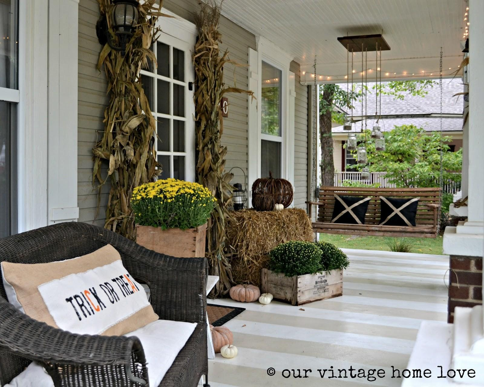 Our Vintage Home Love Autumn Porch Ideas