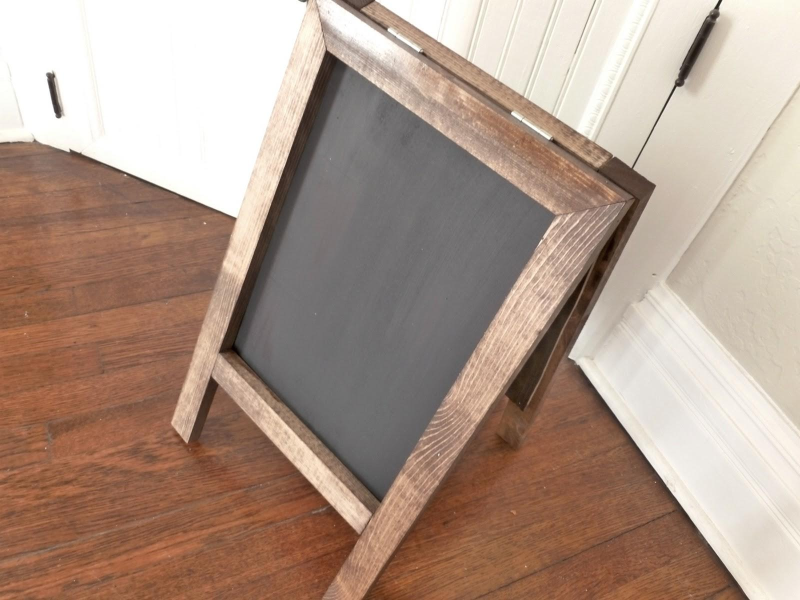 Our Vintage Home Love Diy Easel Chalkboard