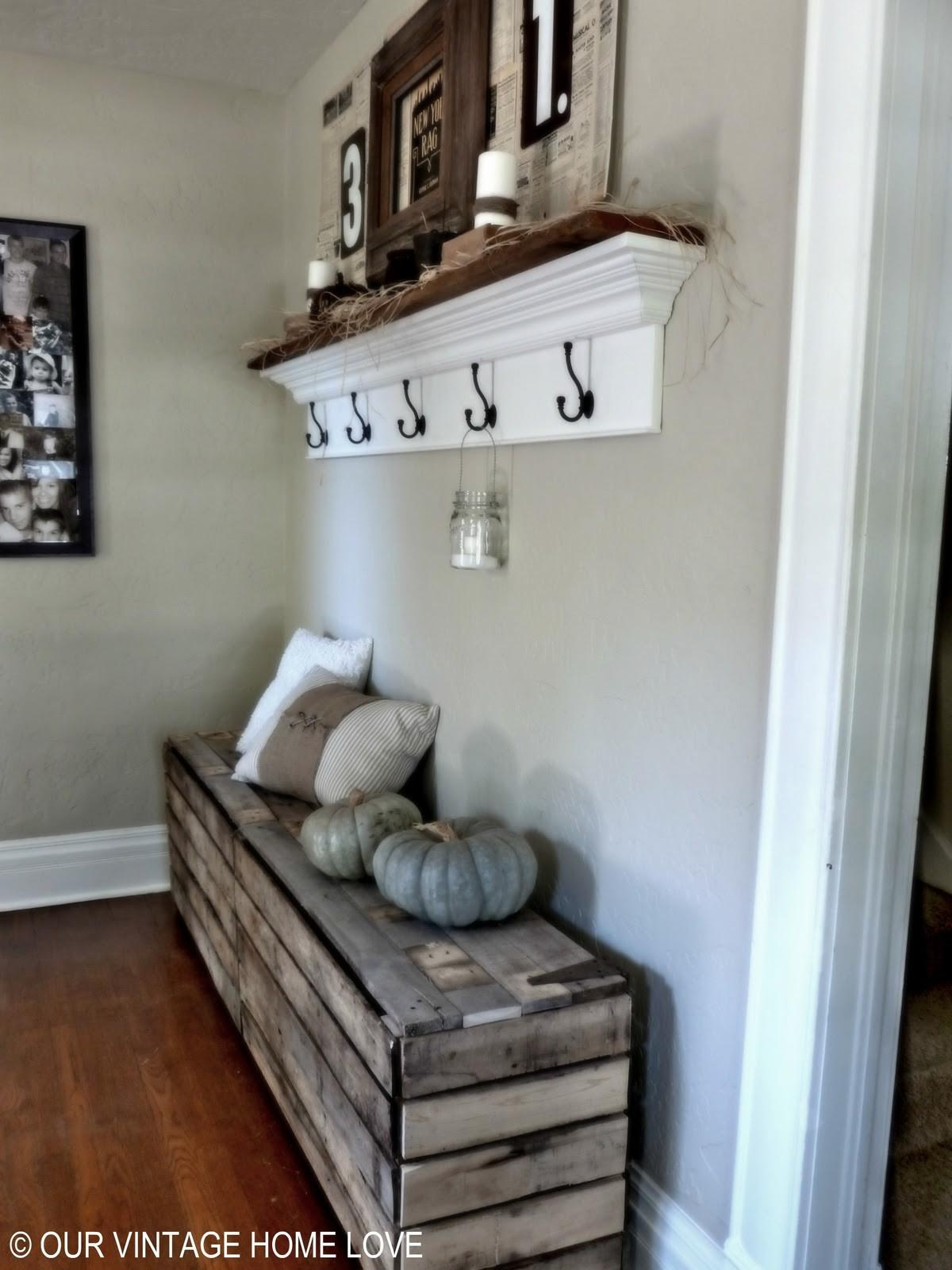 Our Vintage Home Love Rustic Pallet Bench