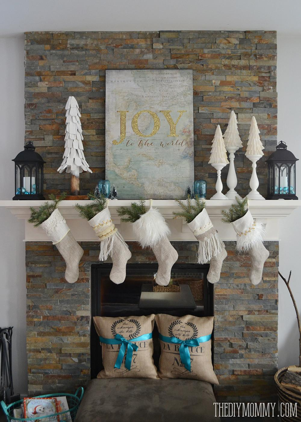Our Vintage Inspired Glam Christmas Mantel Make