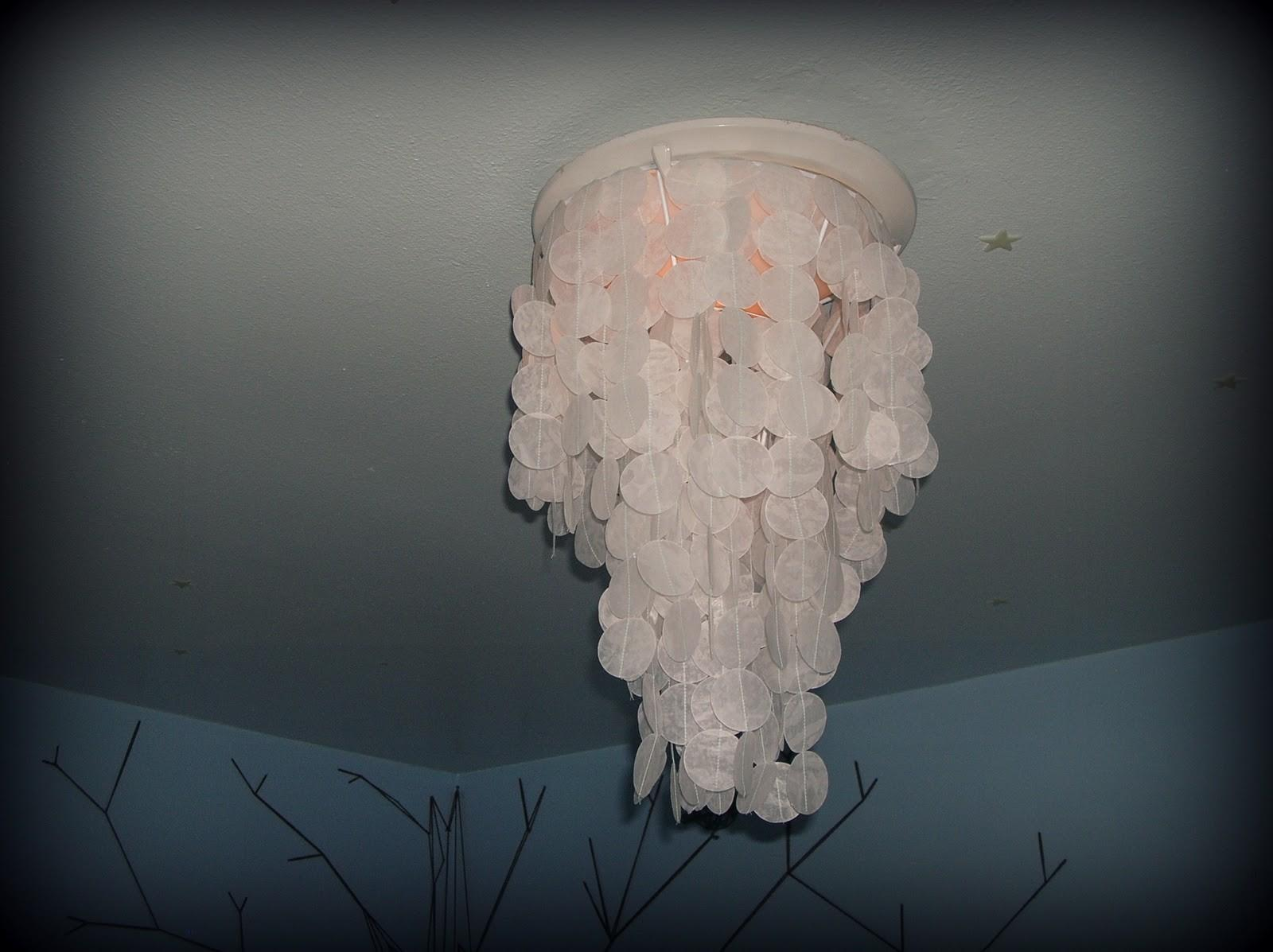 Our World Nutshell Diy Wax Paper Capiz Shell Chandelier