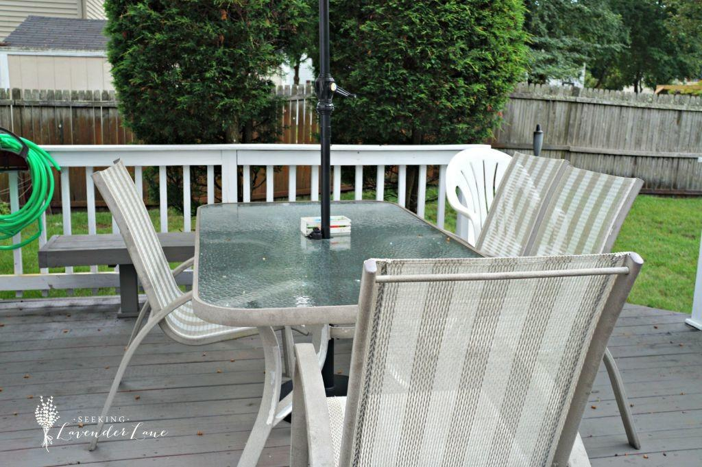 Outdated Patio Set Rustic Makeover Seeking Lavendar Lane