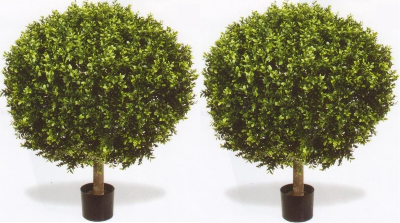 Outdoor Artificial Boxwood Topiary Ball Bush Potted