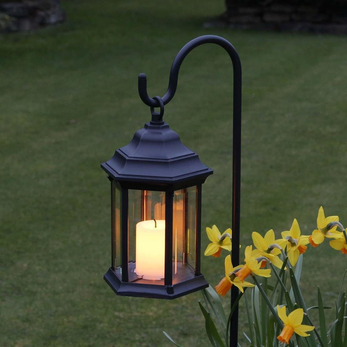 Outdoor Battery Flickering Candle Lantern Timer