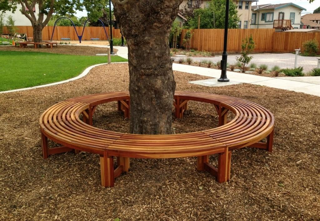 Outdoor Benches Tree Can Useful Elegant