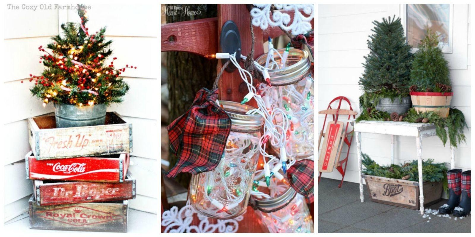 Outdoor Christmas Decorations Ideas Outside Porch