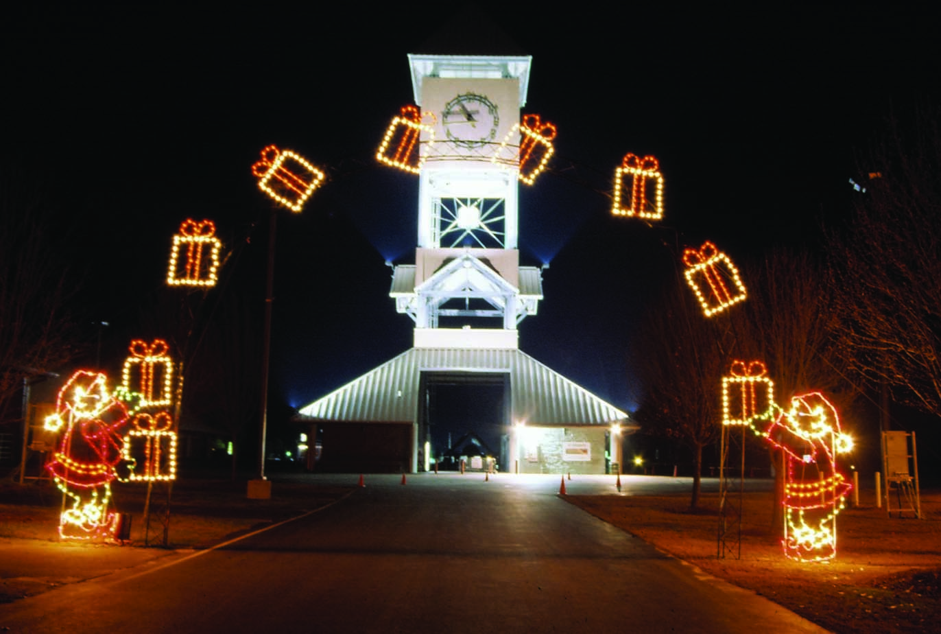 Outdoor Commercial Christmas Decorations Artistic Color