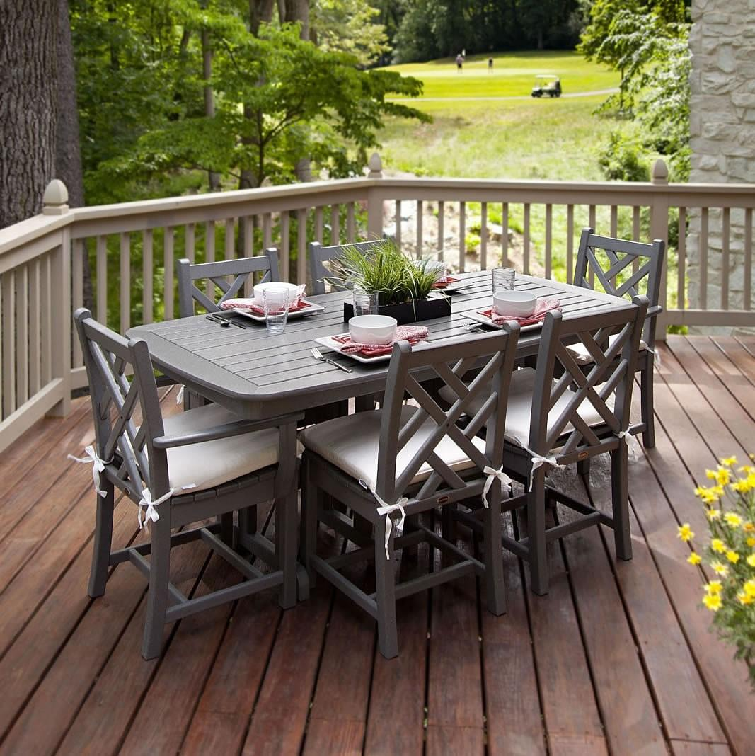 Outdoor Deck Dining Area Country Style Sets