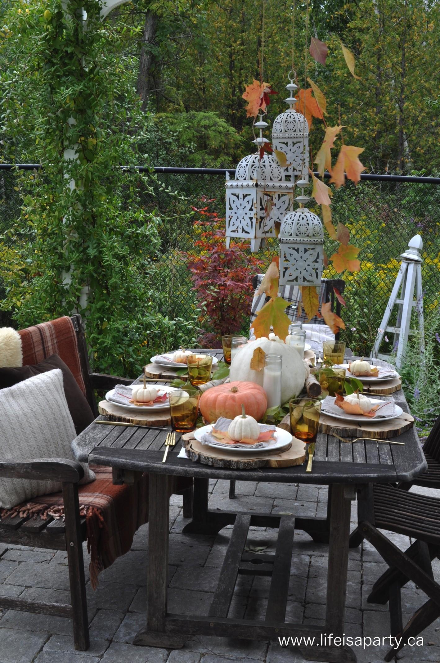 Outdoor Fall Tablescape Life Party