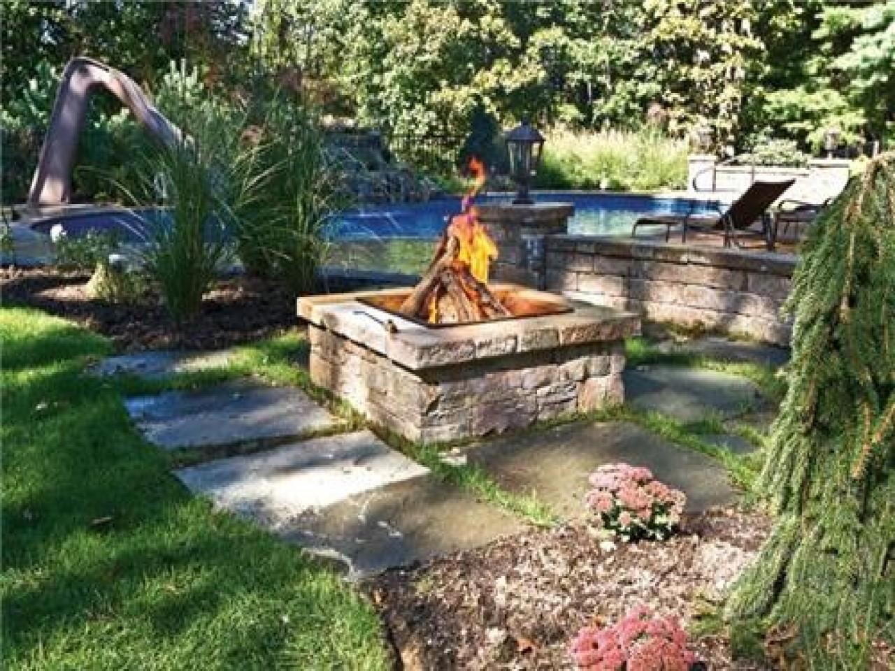 Outdoor Fire Pit Ideas Backyard Square
