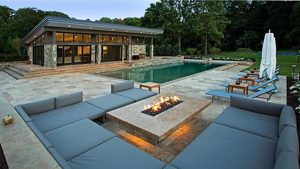 Outdoor Fire Pits Gas Pool Area