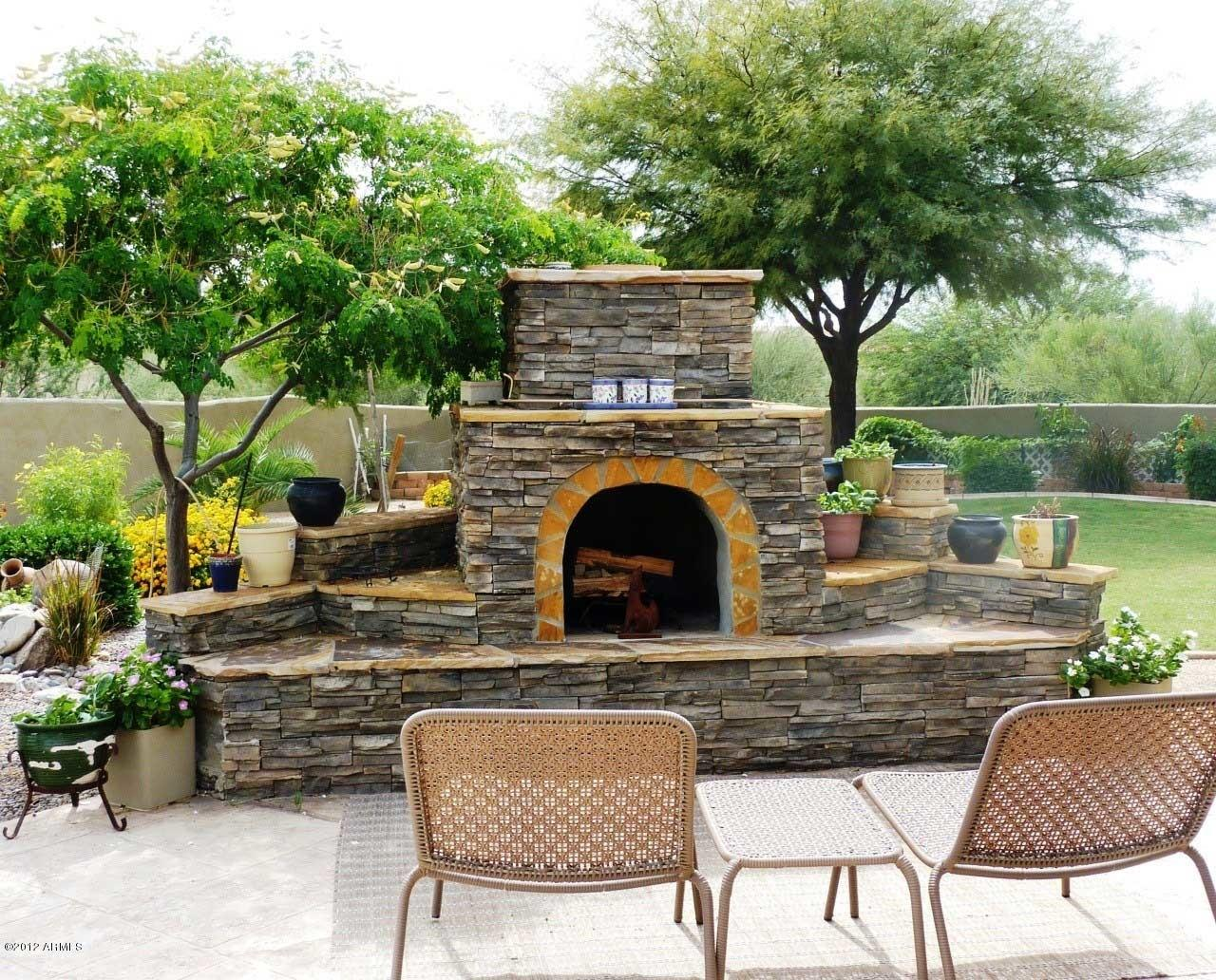 Outdoor Fireplace Designs Stone Callforthedream