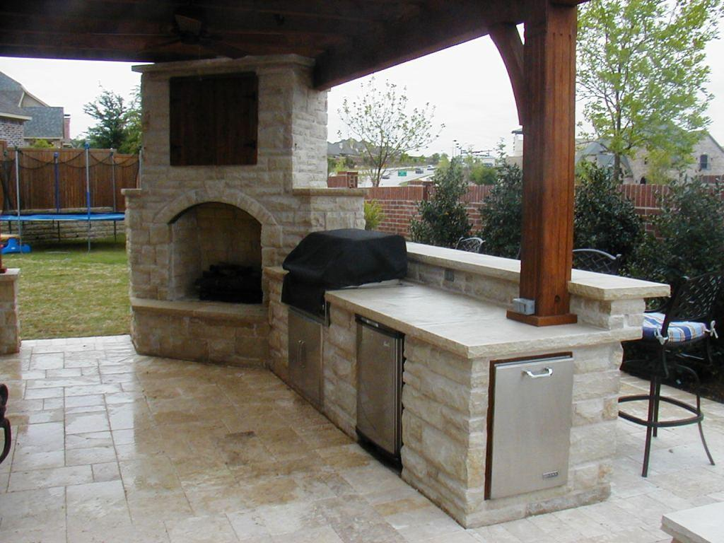 Outdoor Fireplace Kitchen Designs Jen Joes Design