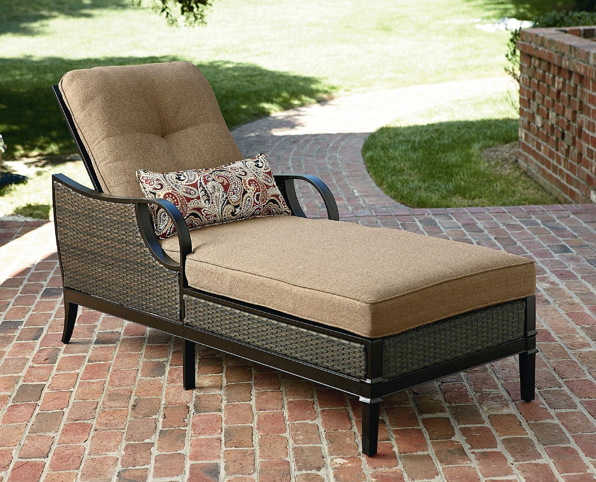 Outdoor Furniture Chaise Lounge Metal Frame Zebra Print