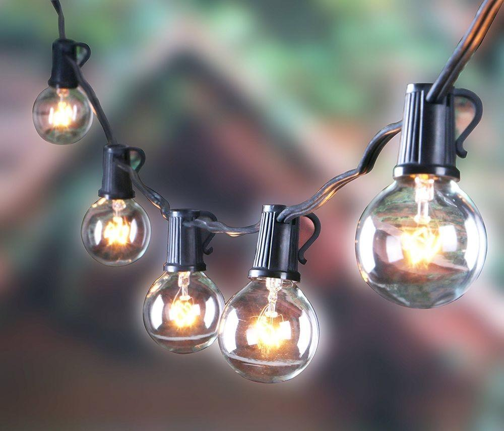 Outdoor G40 String Lights Vintage Backyard Patio