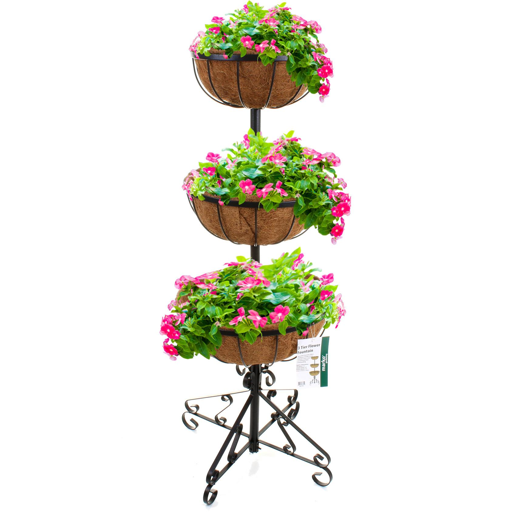 Outdoor Garden Tier Cradle Planters Plants Flowers Coco