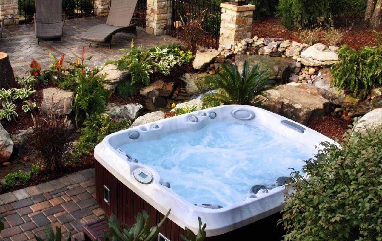 Outdoor Jacuzzi Hot Tubs Ideas Home Interior Exterior