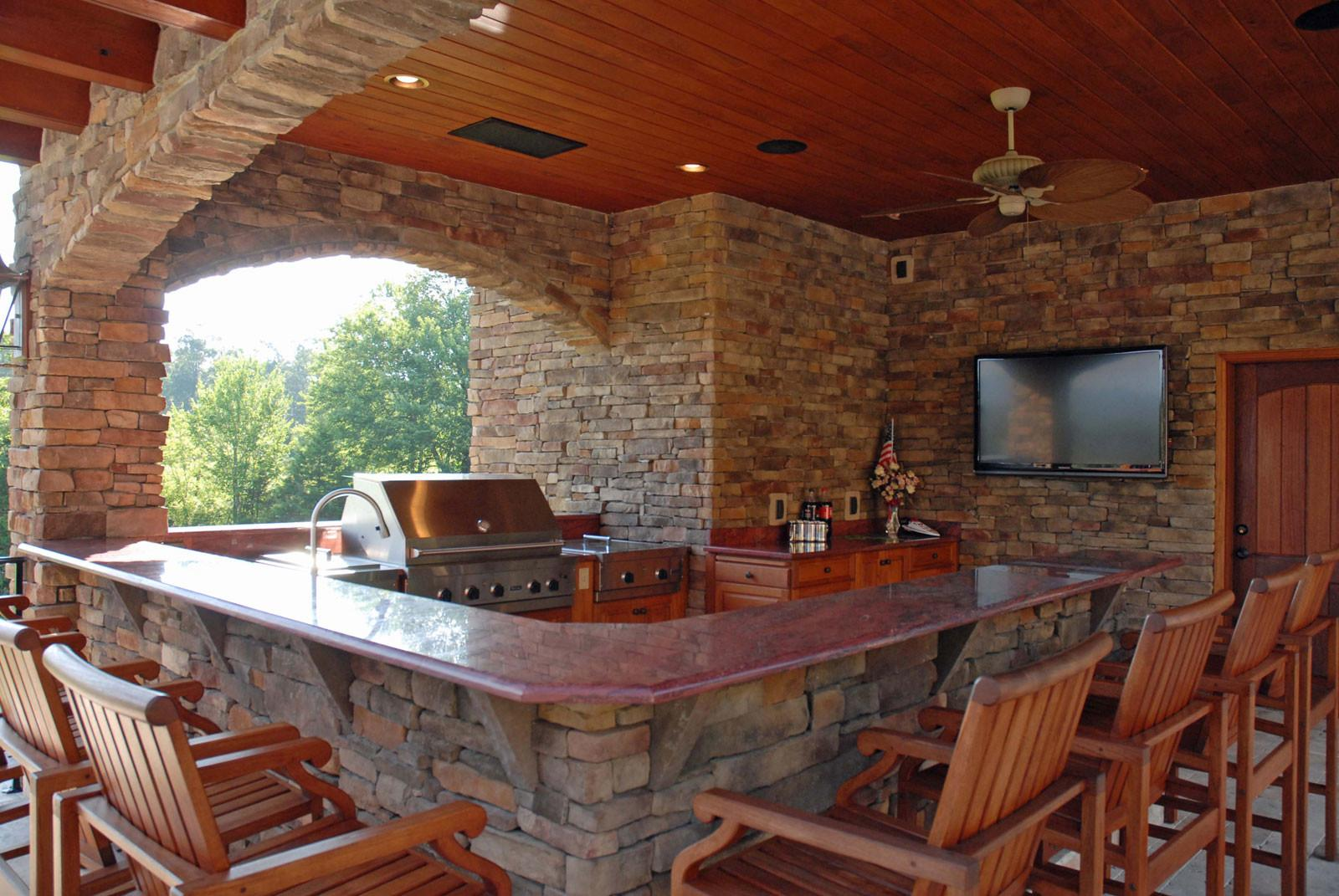 Outdoor Kitchen Designs Uncovered Covered Style