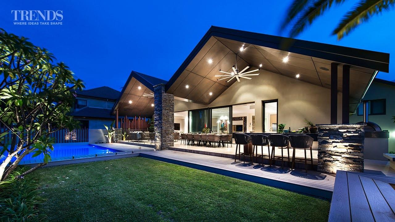 Outdoor Living Area Pool Barbecue Created