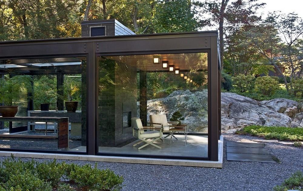 Outdoor Living Room Glass House