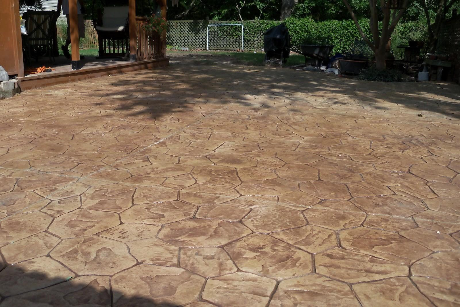Outdoor Mesmerizing Stamped Concrete Pavers Modern