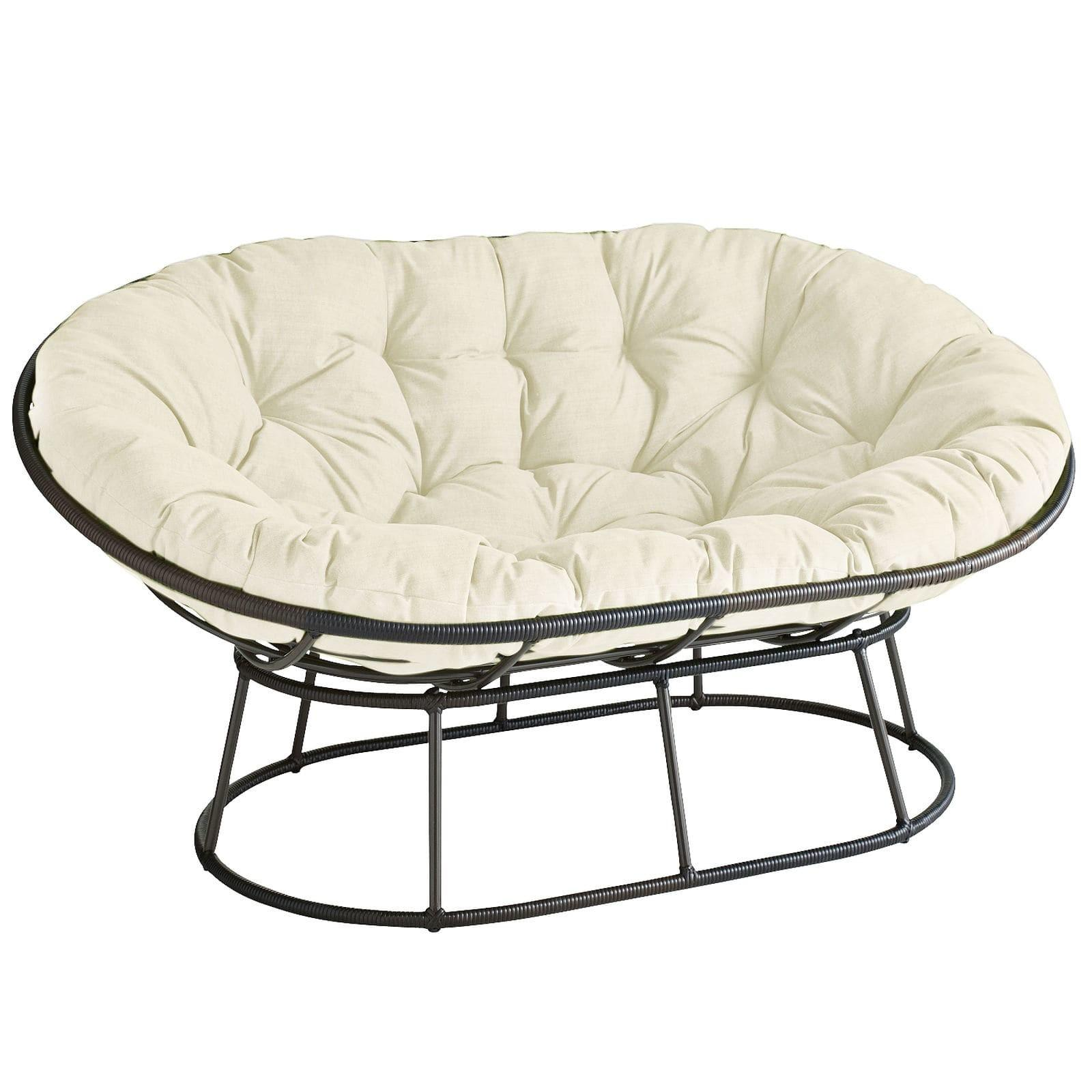 Outdoor Mocha Double Papasan Chair Frame Pier Imports