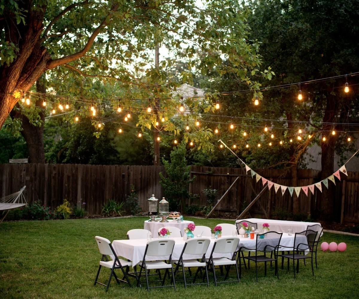 Outdoor Party Lights Home Depot Absorbing Nighttime