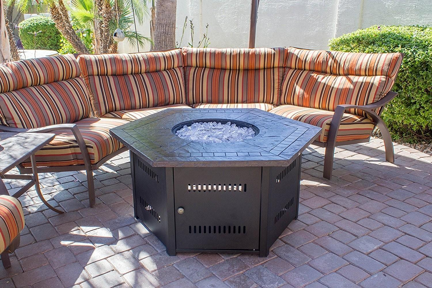 Outdoor Patio Ideas Propane Fire Pits Table Round
