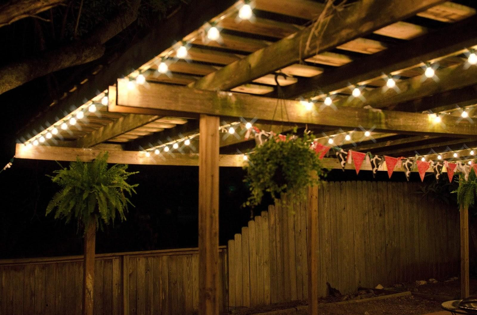 Outdoor Patio Lights String Ideas Lighting