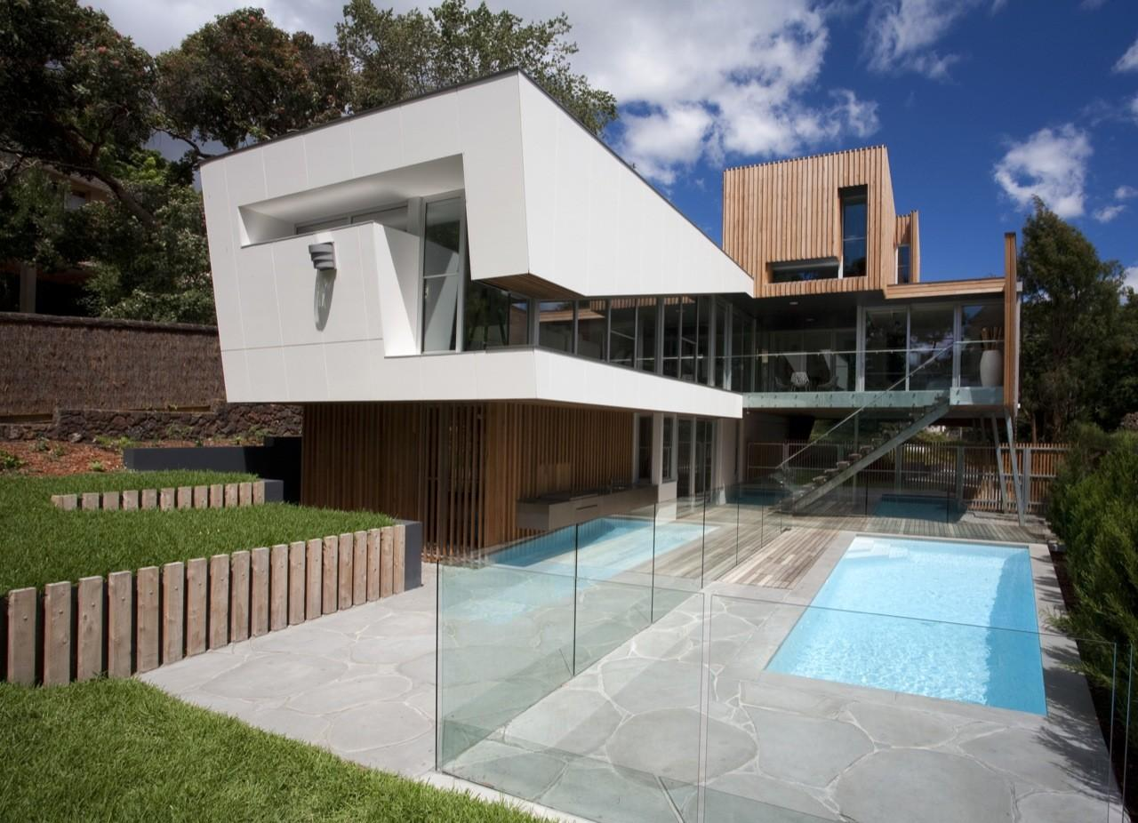 Outdoor Pool Glass Balustrading Kew House Melbourne