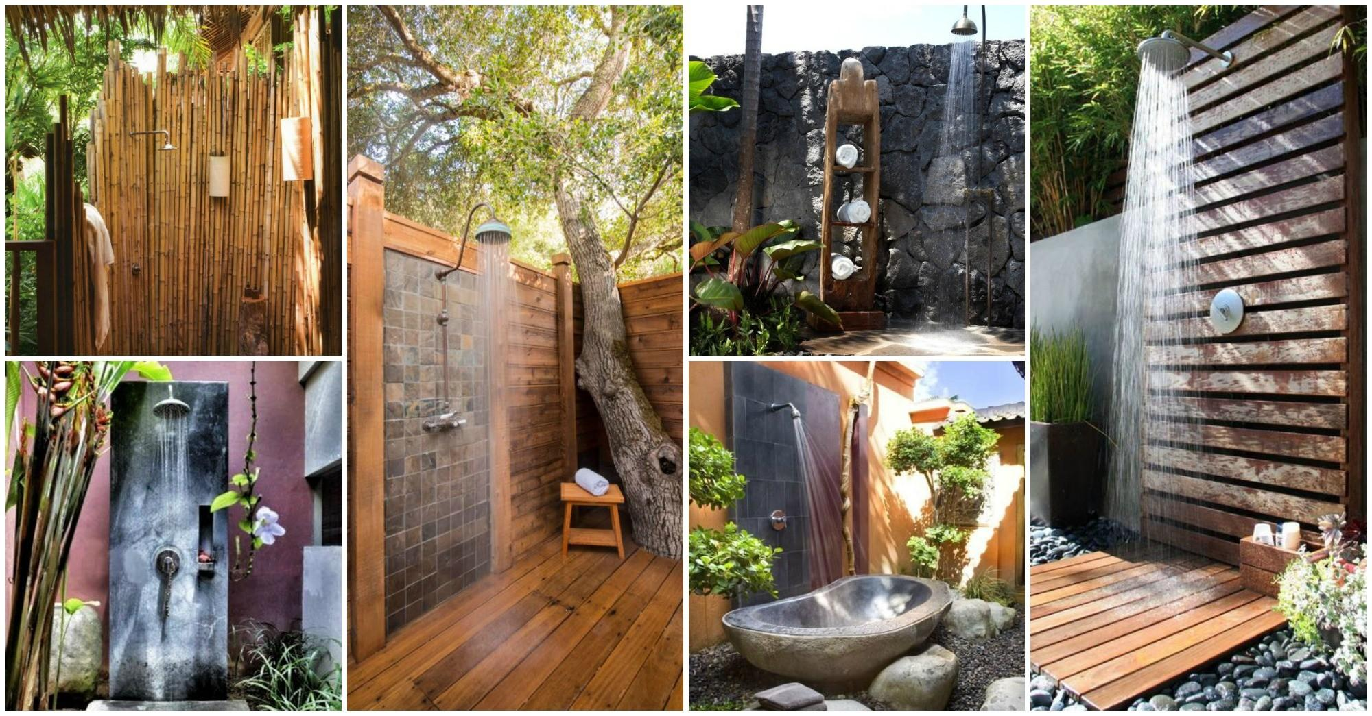 Outdoor Shower Ideas Wake All Your Senses