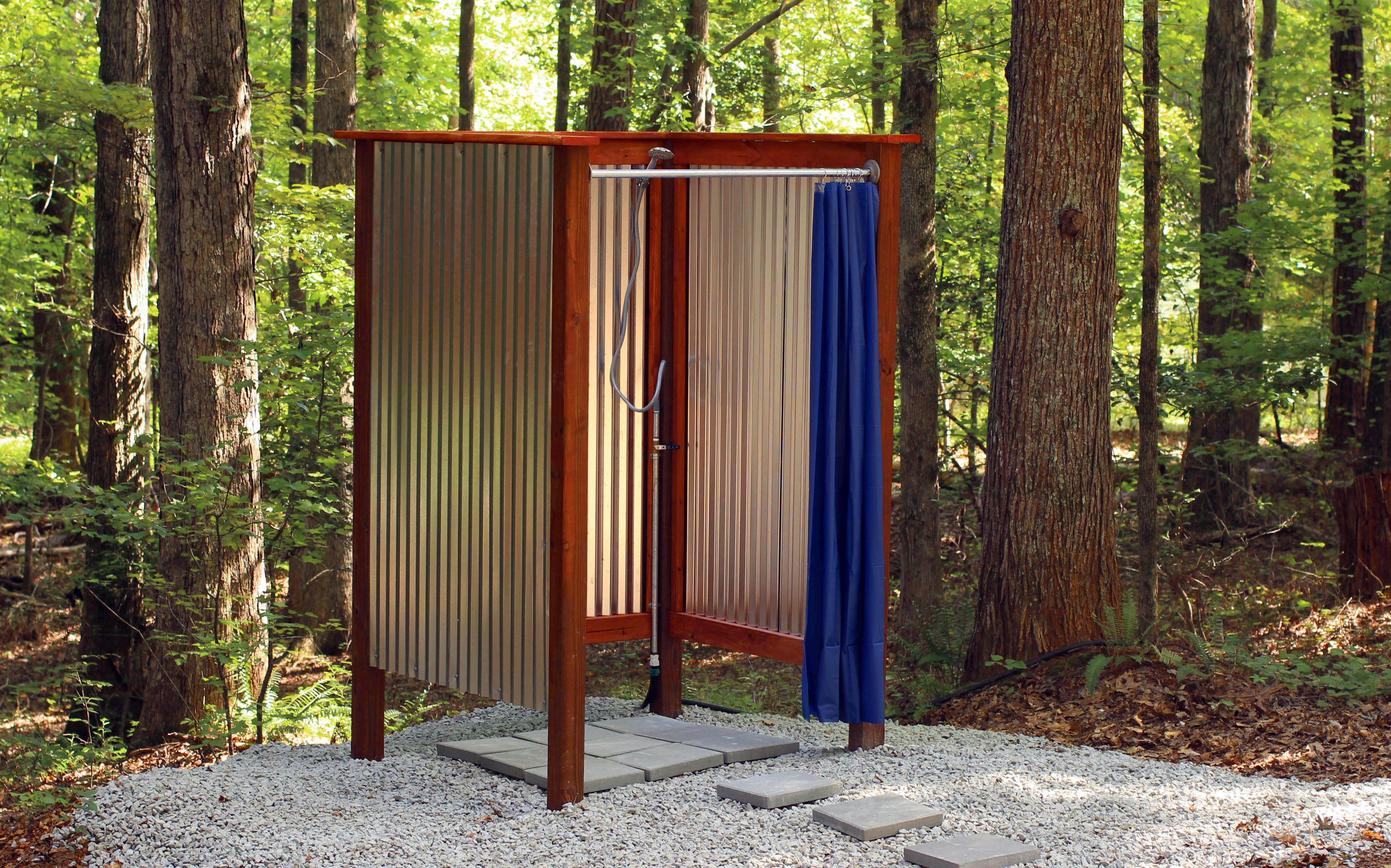 Outdoor Shower Plans Wood Video