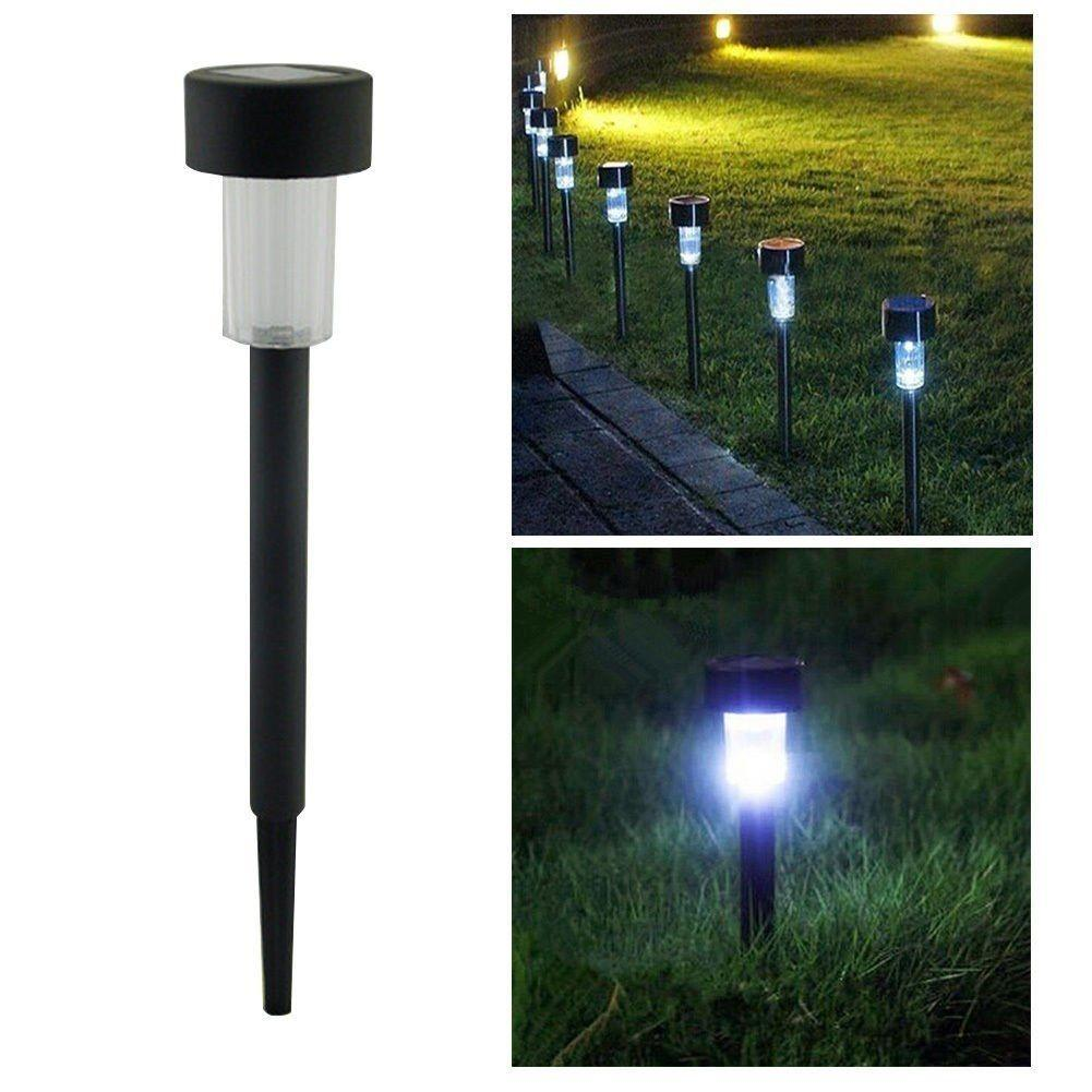Outdoor Solar Power Lights Garden Pathway Landscape Led